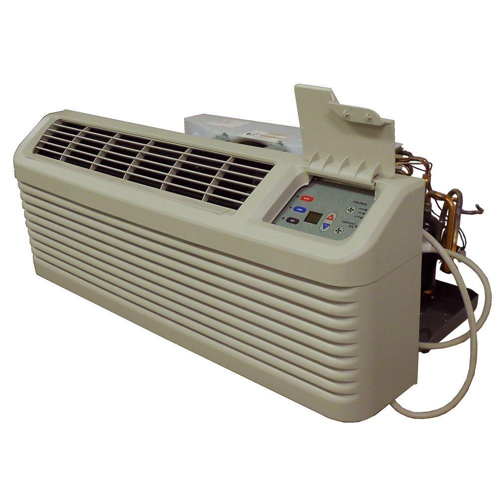7,600 BTU R-410A Packaged Terminal Heat Pump Air Conditioner + 3.5 kW Electric Heat 230-Volt