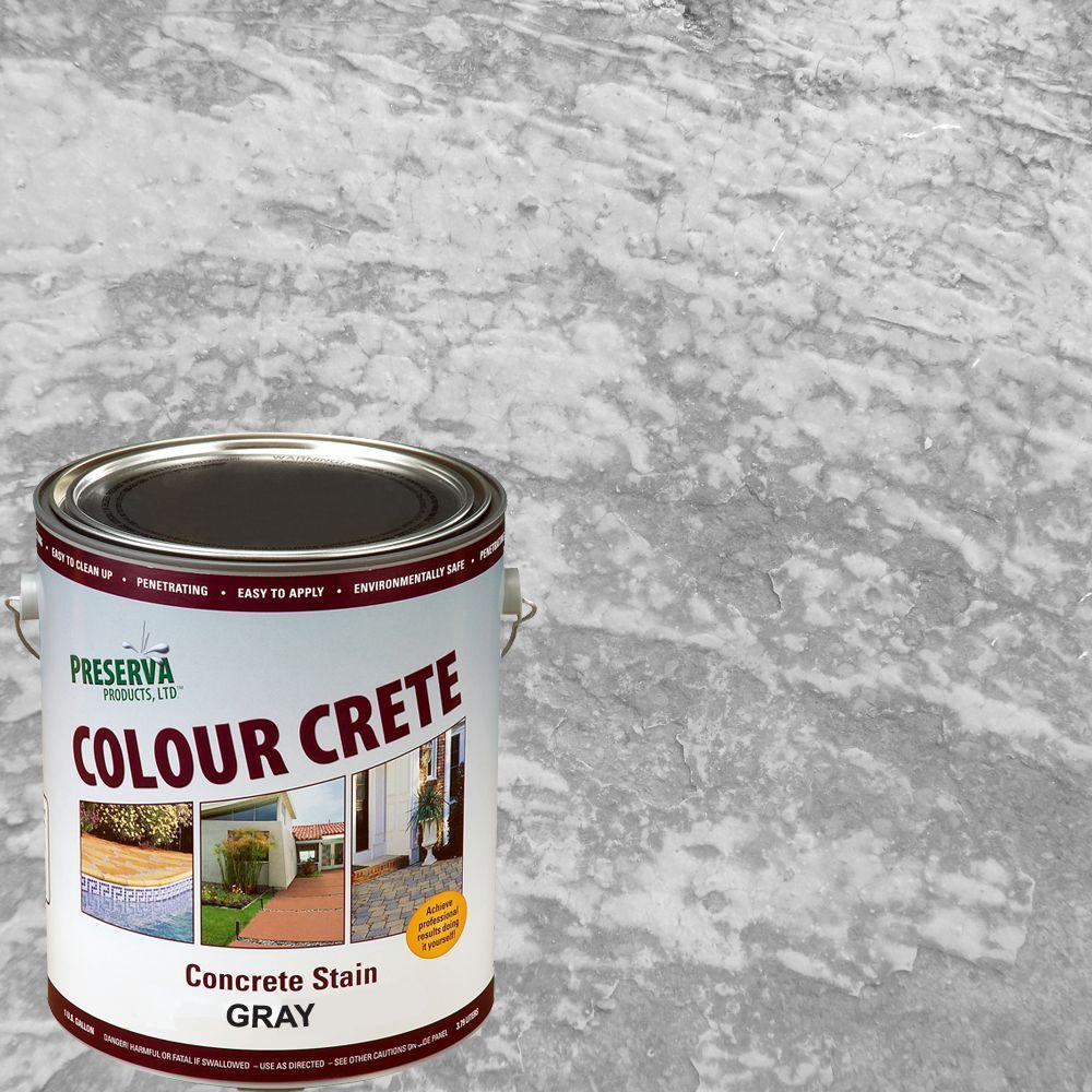 Colour Crete 1 Gal. Gray Semi-Transparent Water-Based Exterior Concrete Stain