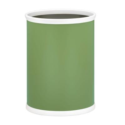 Bartenders Choice Fun Colors Mist Green 13 Qt. Oval Waste Basket