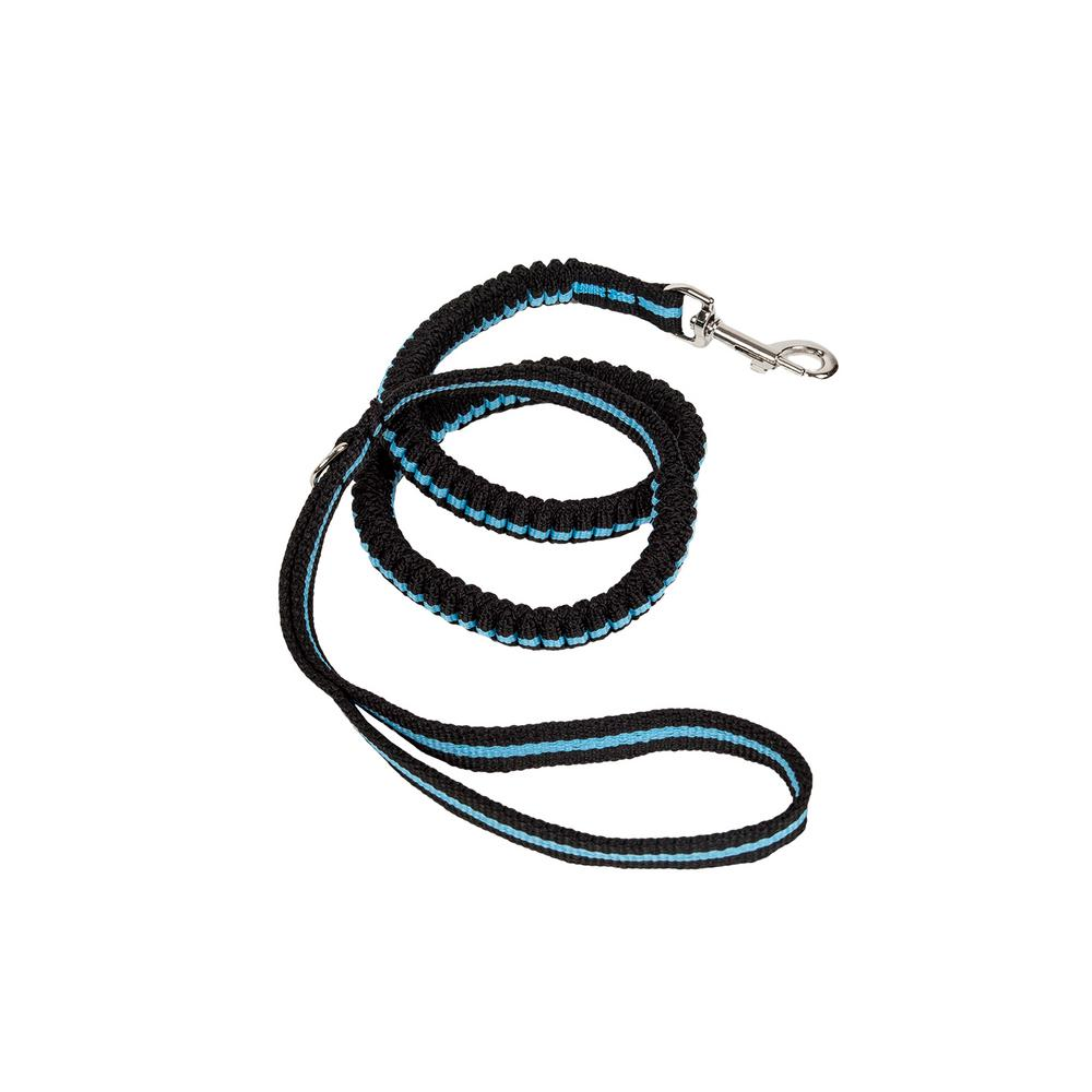 Blue Retract-A-Wag Shock Absorption Stitched Durable Dog Leash