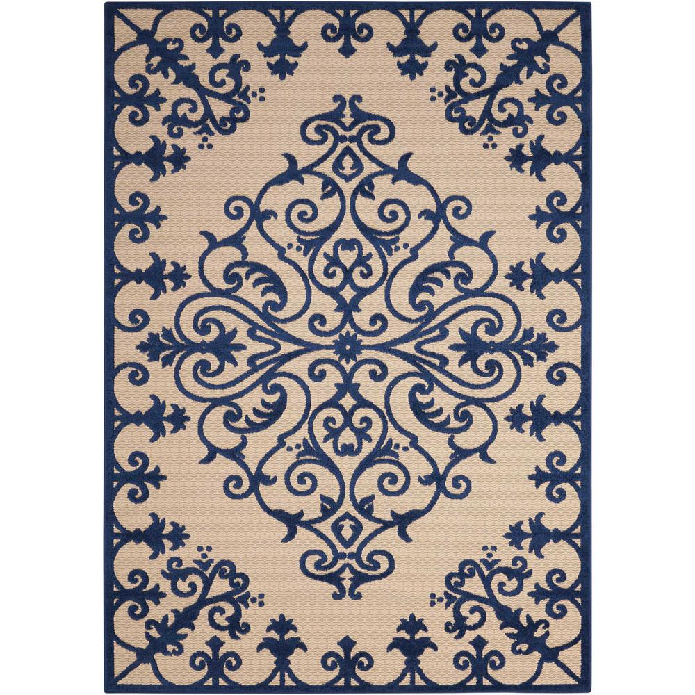 Nourison Aloha Navy 4 ft. x 6 ft. Indoor/Outdoor Area Rug