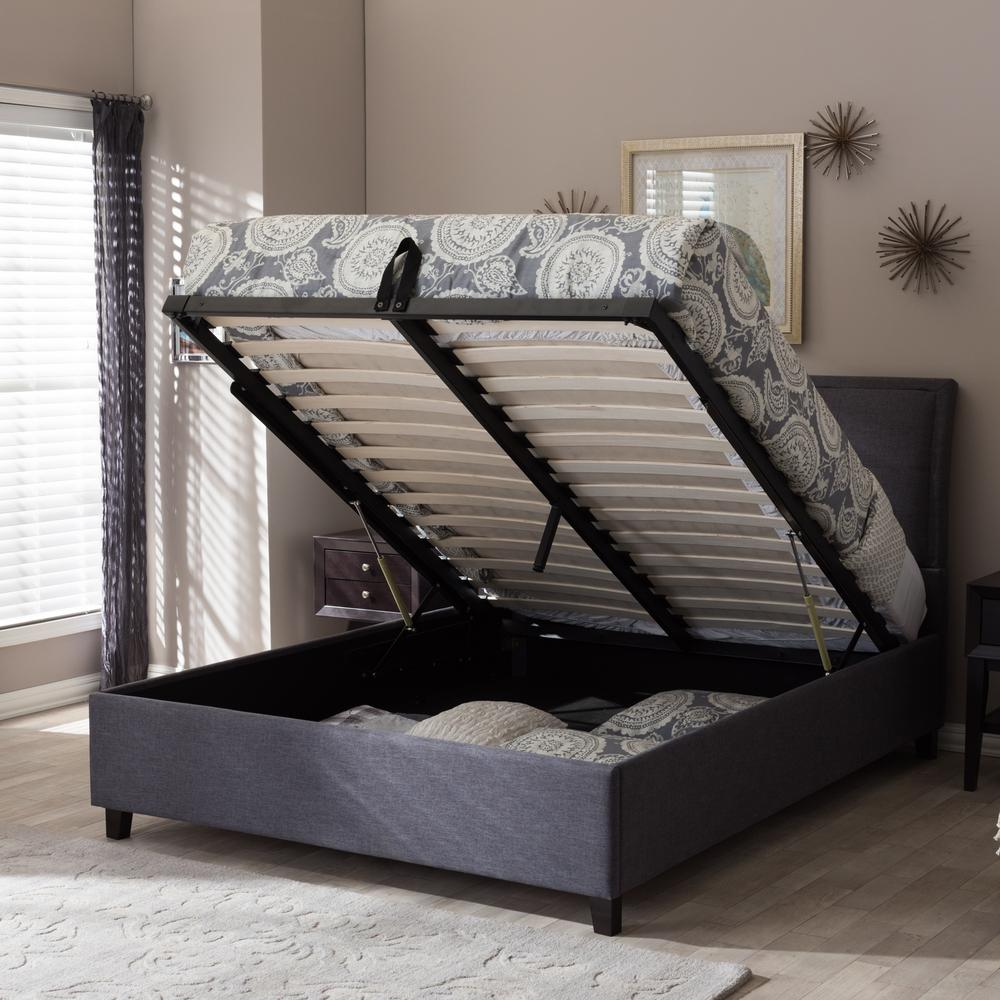 Lea Gray Queen Upholstered Bed