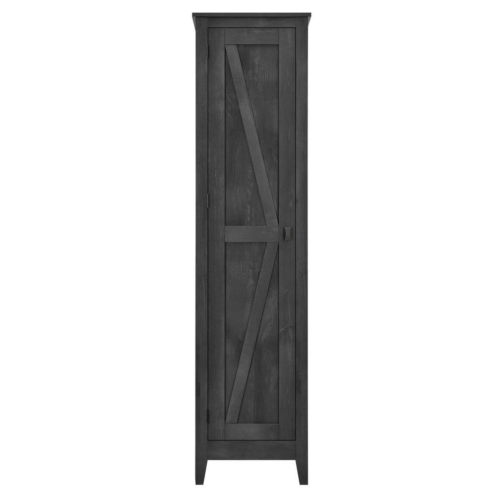Broom Closet Cabinet Plans: SystemBuild Brownwood Rustic Gray 18 In. Wide Storage
