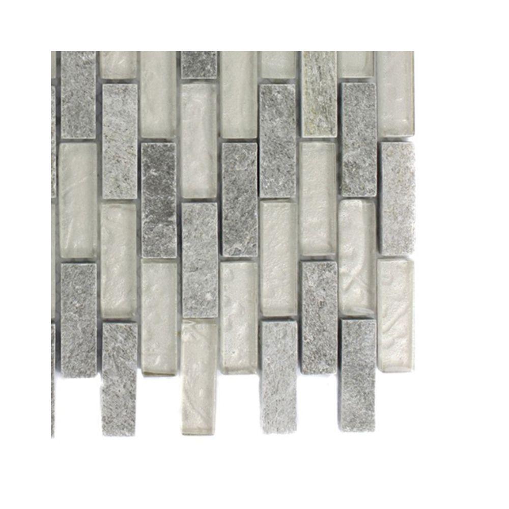 Splashback Tile Tectonic Harmony Green Quartz Slate And: Ivy Hill Tile Tectonic Brick Green Quartz Slate And White