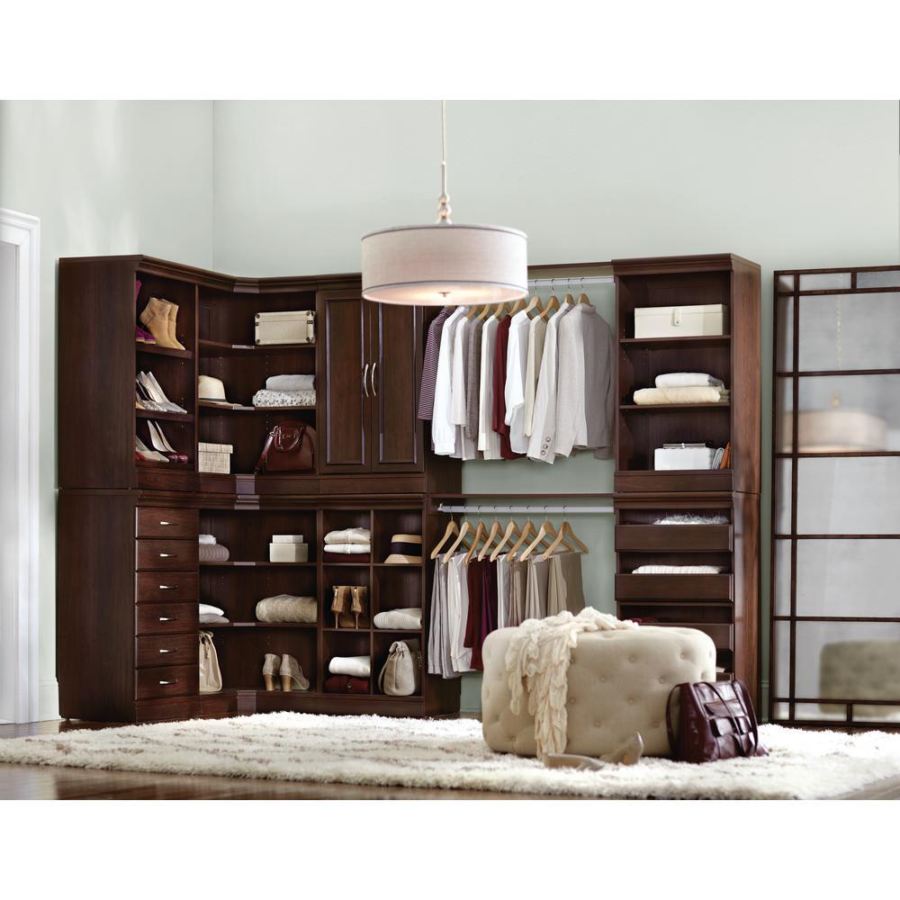 Home Decorators Collection Manhattan Modular 3 Shelf Storage Corner Unit In  Cherry 9155700120   The Home Depot