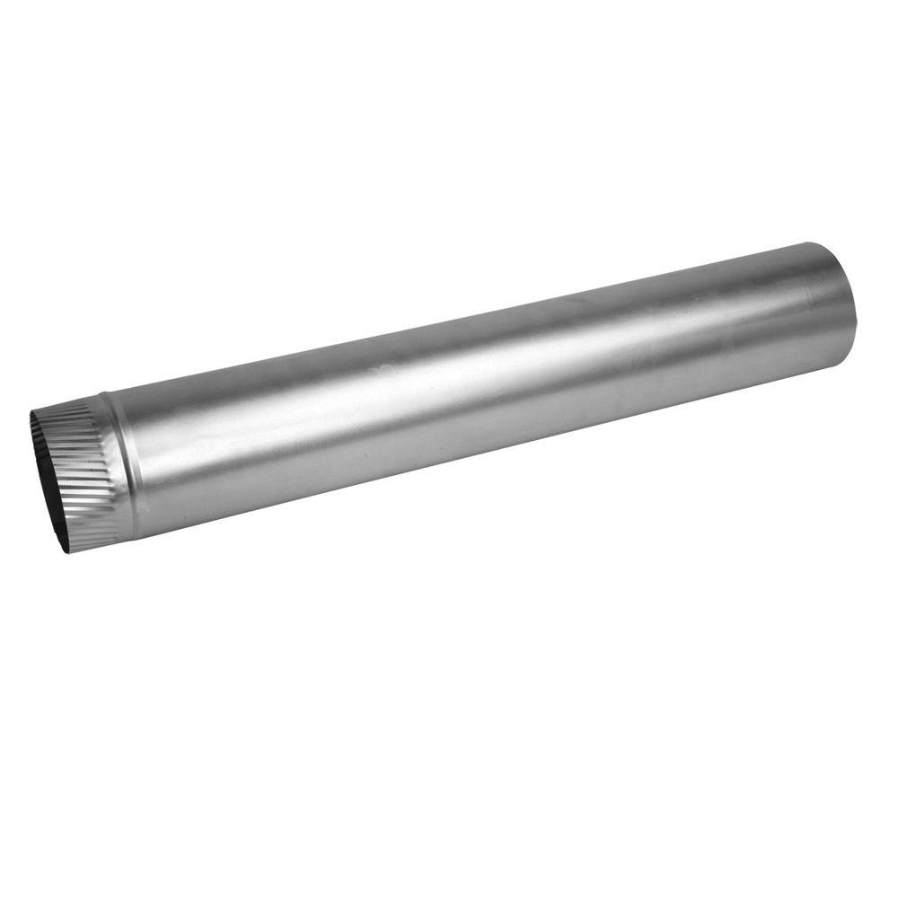 Speedi-Products 4 in. x 24 in. 26-Gauge Aluminum Rigid Pipe