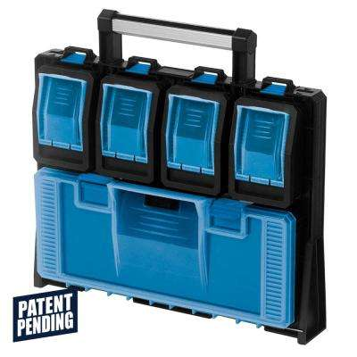 5-Compartment Wall Mount Quick Release Small Parts Organizer, Blue
