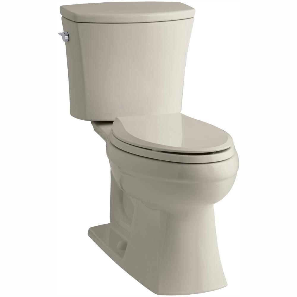 Kelston Comfort Height 2-piece 1.28 GPF Single Flush Elongated Toilet with AquaPiston Flushing Technology in Sandbar