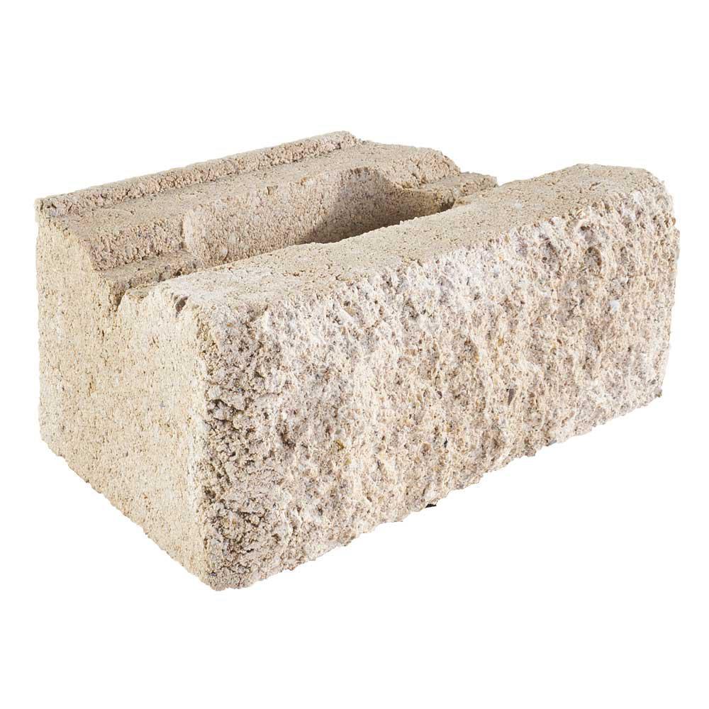 Pavestone RockWall Small 6.75 in. L x 11.63 in. W x 4 in. H Limestone (144-Piece/46.5 sq. ft./Pallet)