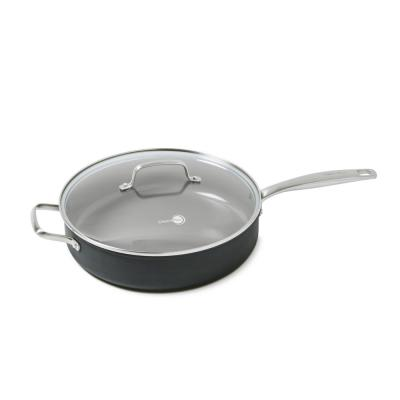 Chatham 5 qt. Hard-Anodized Aluminum Ceramic Nonstick Saute Pan in Gray with Glass Lid