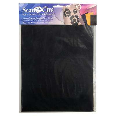 ScanNCut Film and Flocked Sample Iron on Transfer Sheets