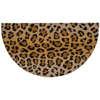 Leopard with Glitter Beige/Black 2 ft. x 3 ft. Indoor/Outdoor Area Rug