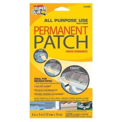 6 in. x 3 in. All Purpose Use Permanent Patch (Pack-12)