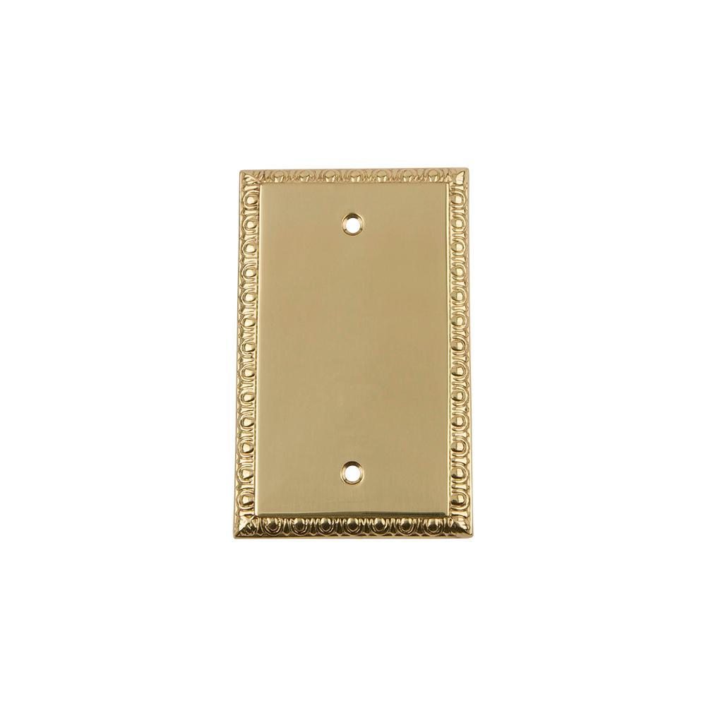 Hampton Bay Century 2 Blank Wall Plate - Polished Brass-163BBBR ...