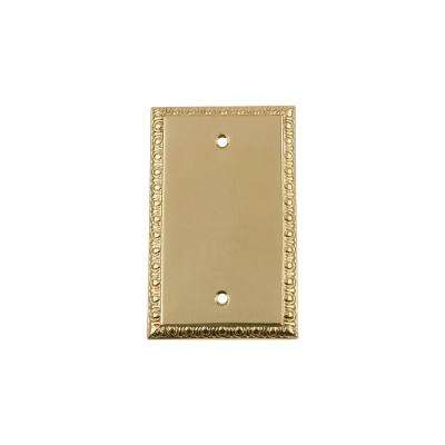 Egg and Dart Switch Plate with Blank Cover in Polished Brass