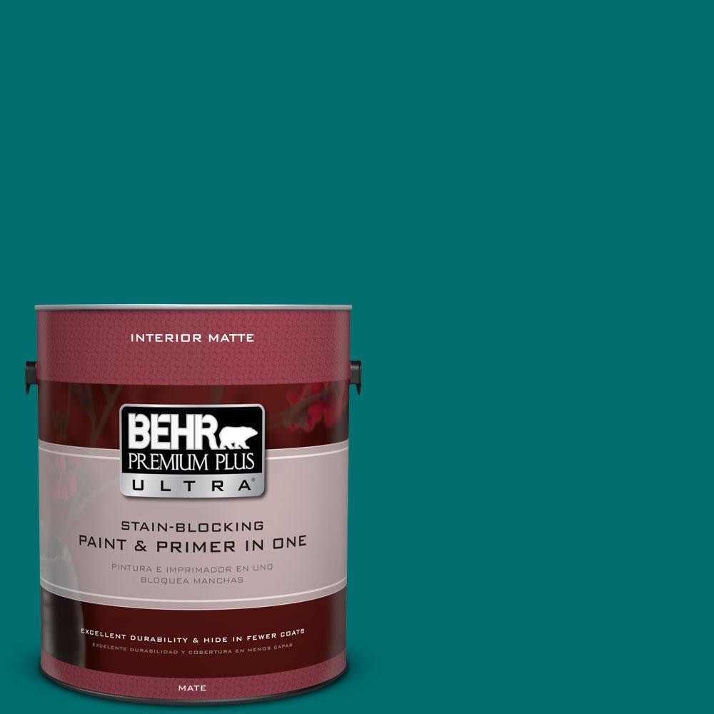 BEHR Premium Plus Ultra 1 gal. #P460-7 Caribbean Current Matte Interior Paint