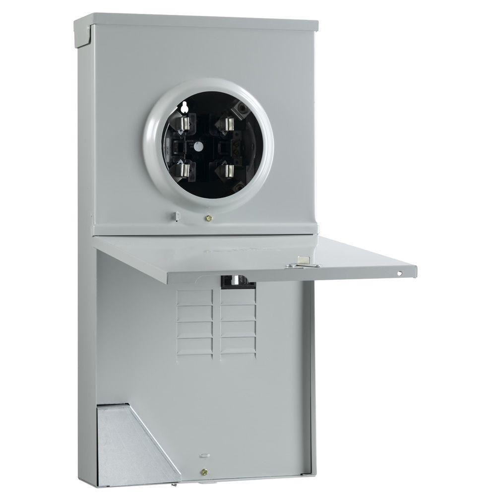 GE 200 Amp Metered Temporary Power Outlet Box