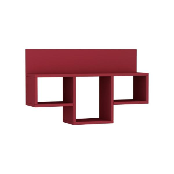 Ada Home Decor Warrington Burgundy Modern Wall Shelf DCRW2416