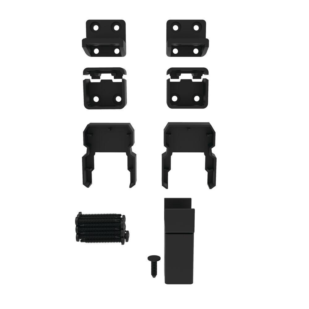 VersaRail Matte Black Aluminum Line Bracket Kit (4-Pack)