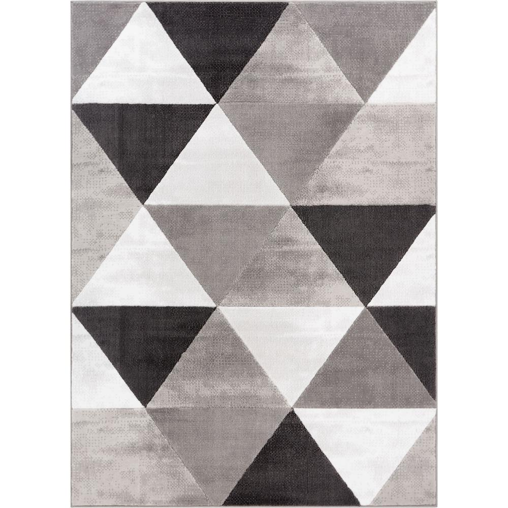 Shop Audrey Gray Mid Century Modern Area Rug: Well Woven Dulcet Retro Shapes 3 Ft. X 5 Ft. Mid-Century