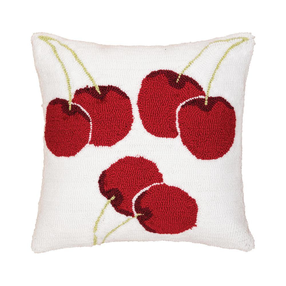 Cherry Hooked Standard Pillow