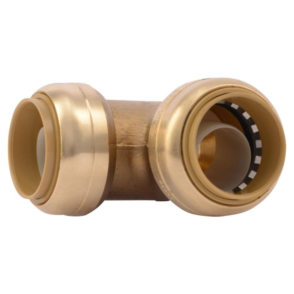Sharkbite 1 In Push To Connect Brass 90 Degree Elbow Fitting U260lfa The Home Depot