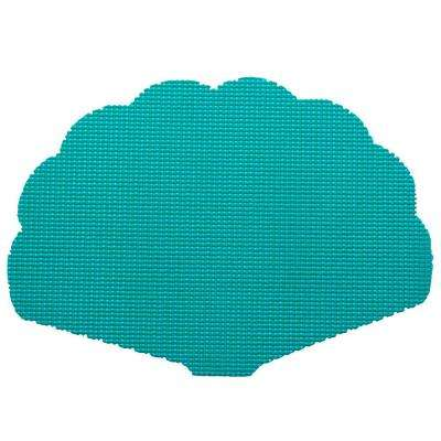 Fishnet Shell Placemat in Teal (Set of 12)