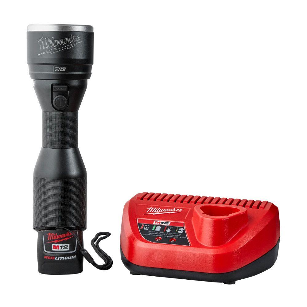 M12 12-Volt Lithium-Ion Cordless LED High Performance Flashlight Kit W/ (1)