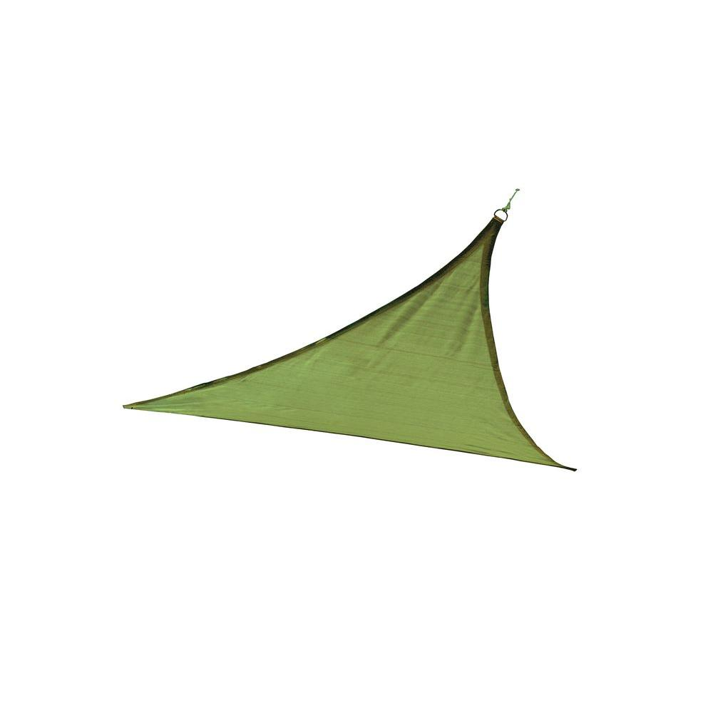 ShelterLogic ShadeLogic 16 ft. x 16 ft. Triangle Lime Green Heavy Weight Sun Shade Sail