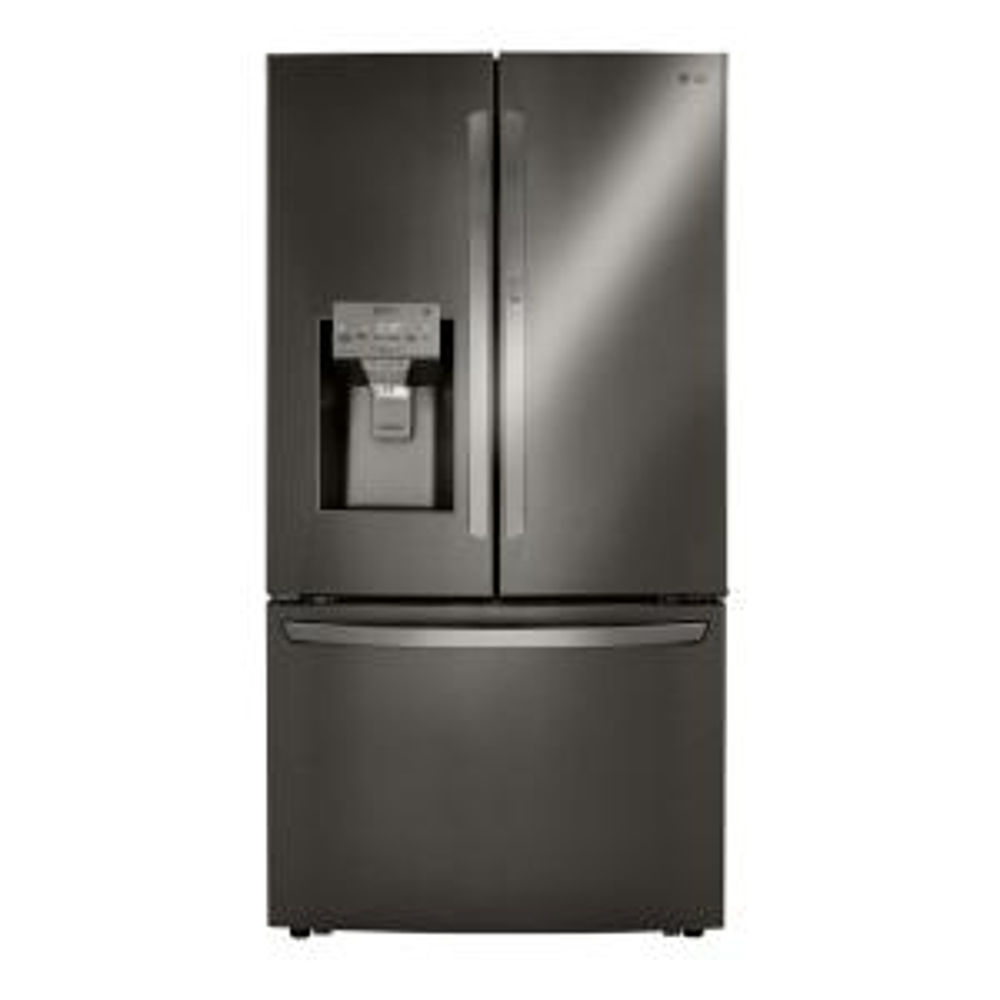 24 cu. ft. French Door Smart Refrigerator with Door-in-Door in PrintProof Black Stainless Steel Counter Depth