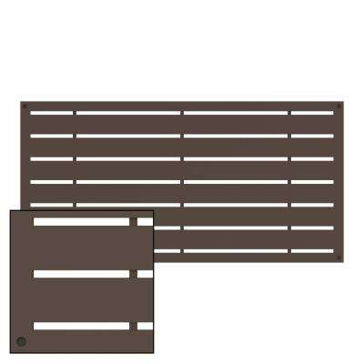 4 ft. x 2 ft. Boardwalk Brazilian Walnut Polymer Decorative Screen Panel