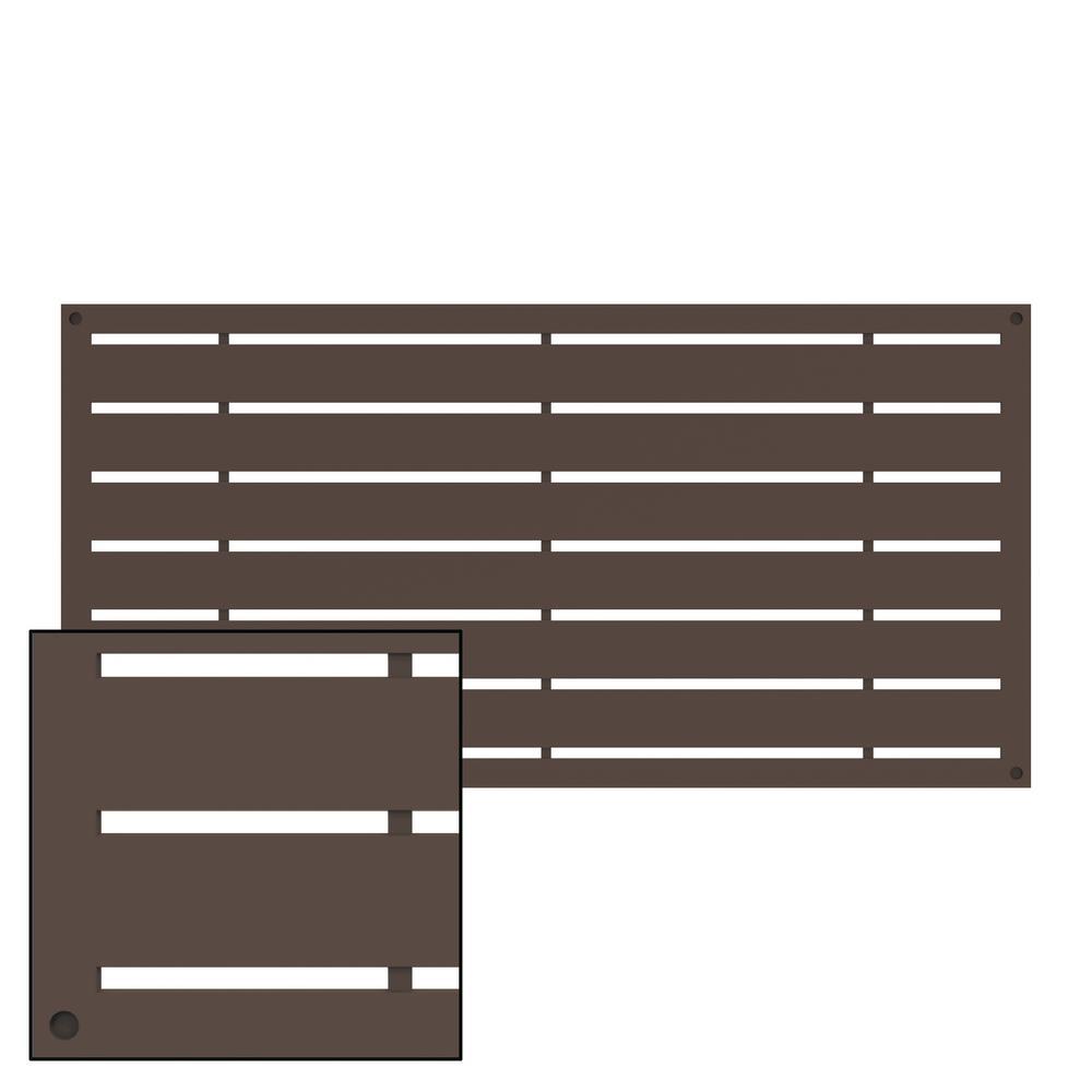 Boardwalk 4 ft. x 2 ft. Brazilian Walnut Polymer Decorative Screen Panel