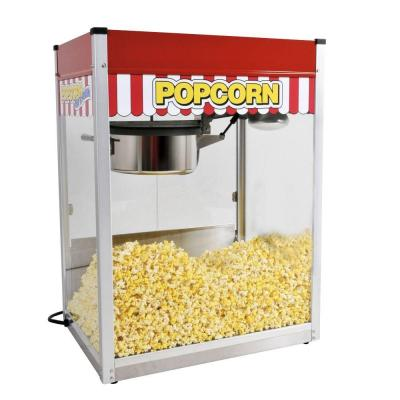 Classic Pop 14 oz. Red Stainless Steel Countertop Popcorn Machine