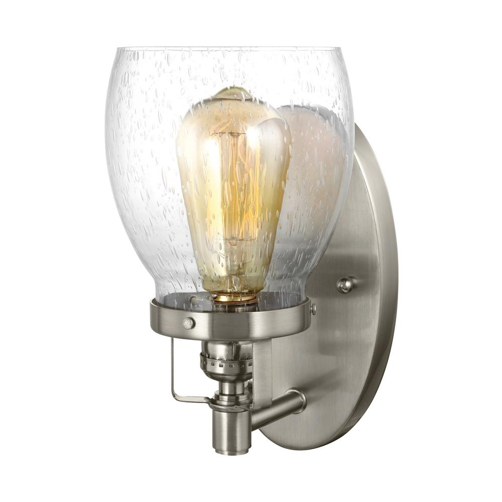 Belton 1-Light Brushed Nickel Sconce