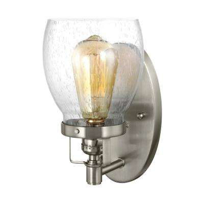 Belton 5.375 in. W. 1-Light Brushed Nickel Sconce