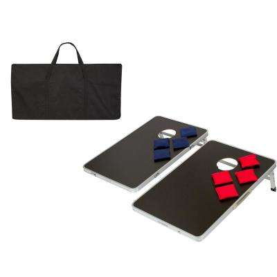 Lightweight and Portable Aluminum 3 ft. Corn Hole and Bean Bag Toss Set with Carry Case