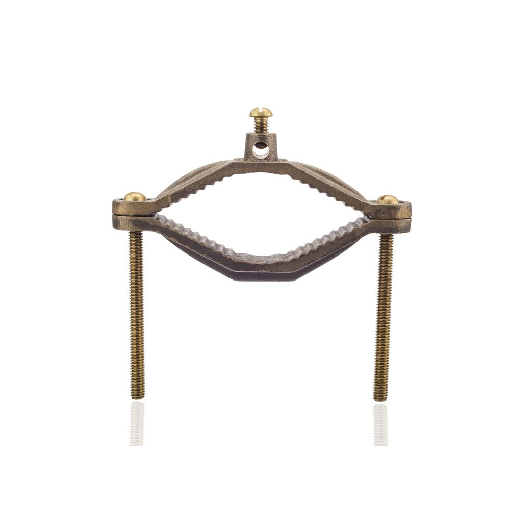 Nsi industries 2 12 in 4 in water pipe size bronze ground clamp water pipe size greentooth Image collections
