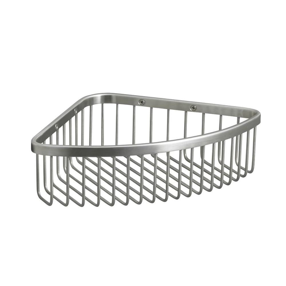 KOHLER Large Shower Basket in Brushed Stainless-K-1897-BS - The Home ...
