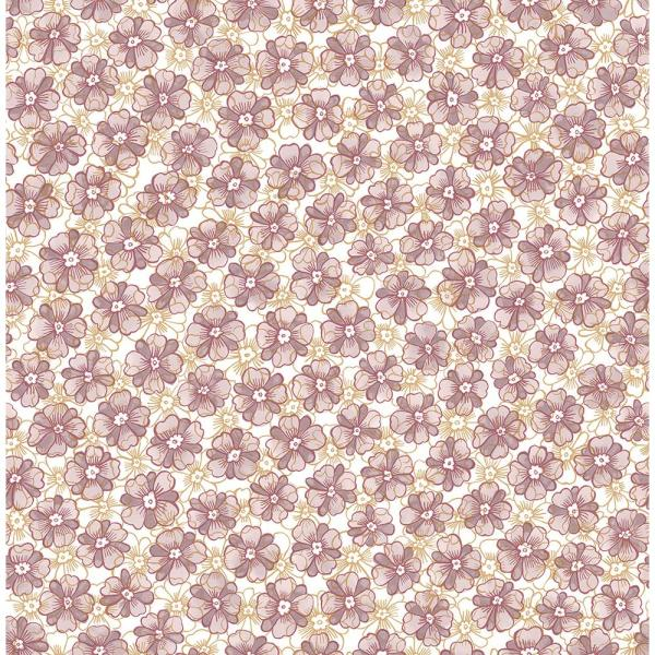 A-Street Allison Lavender Floral Wallpaper 2657-22226
