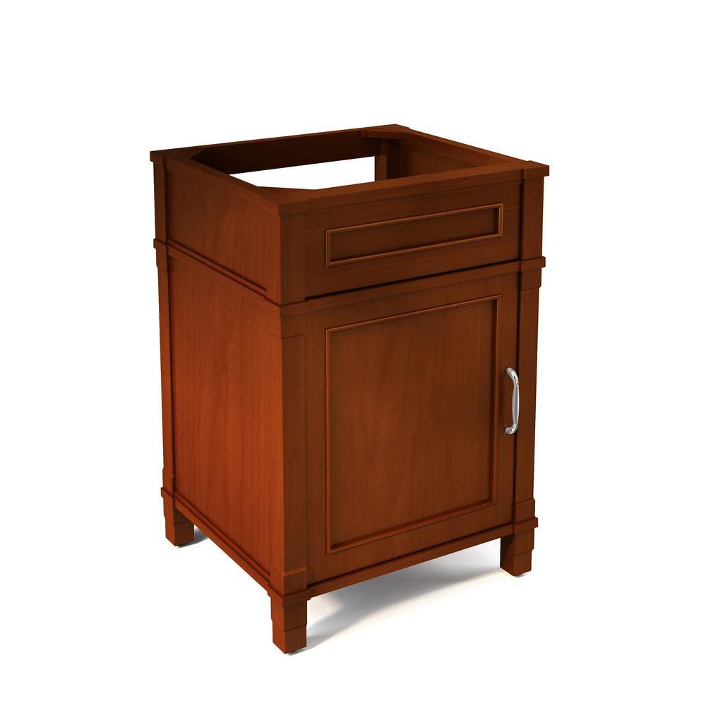 Williamsburg 23 in. W x 21 in. D Vanity Cabinet in Chestnut