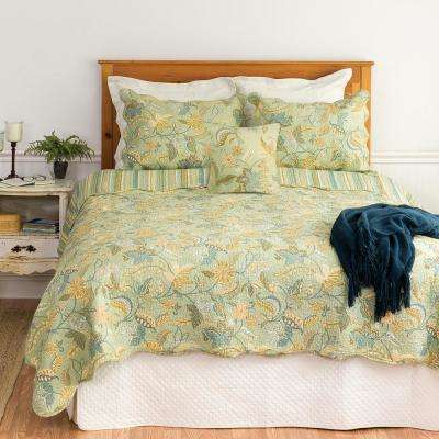 Green Henley Spa Twin Quilt Set