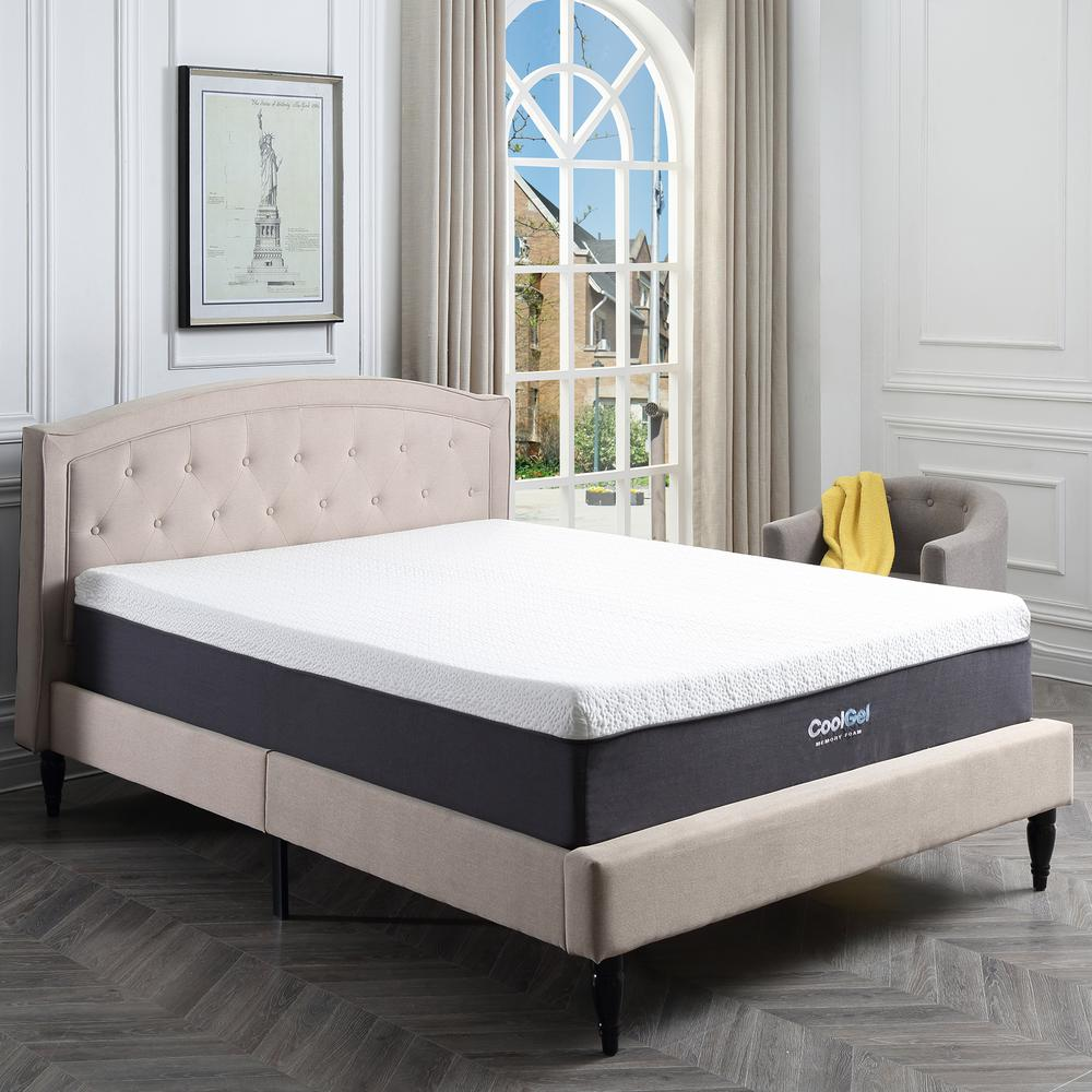 Cool Gel Cool Gel Queen Size 12 In Gel Memory Foam Mattress 410079
