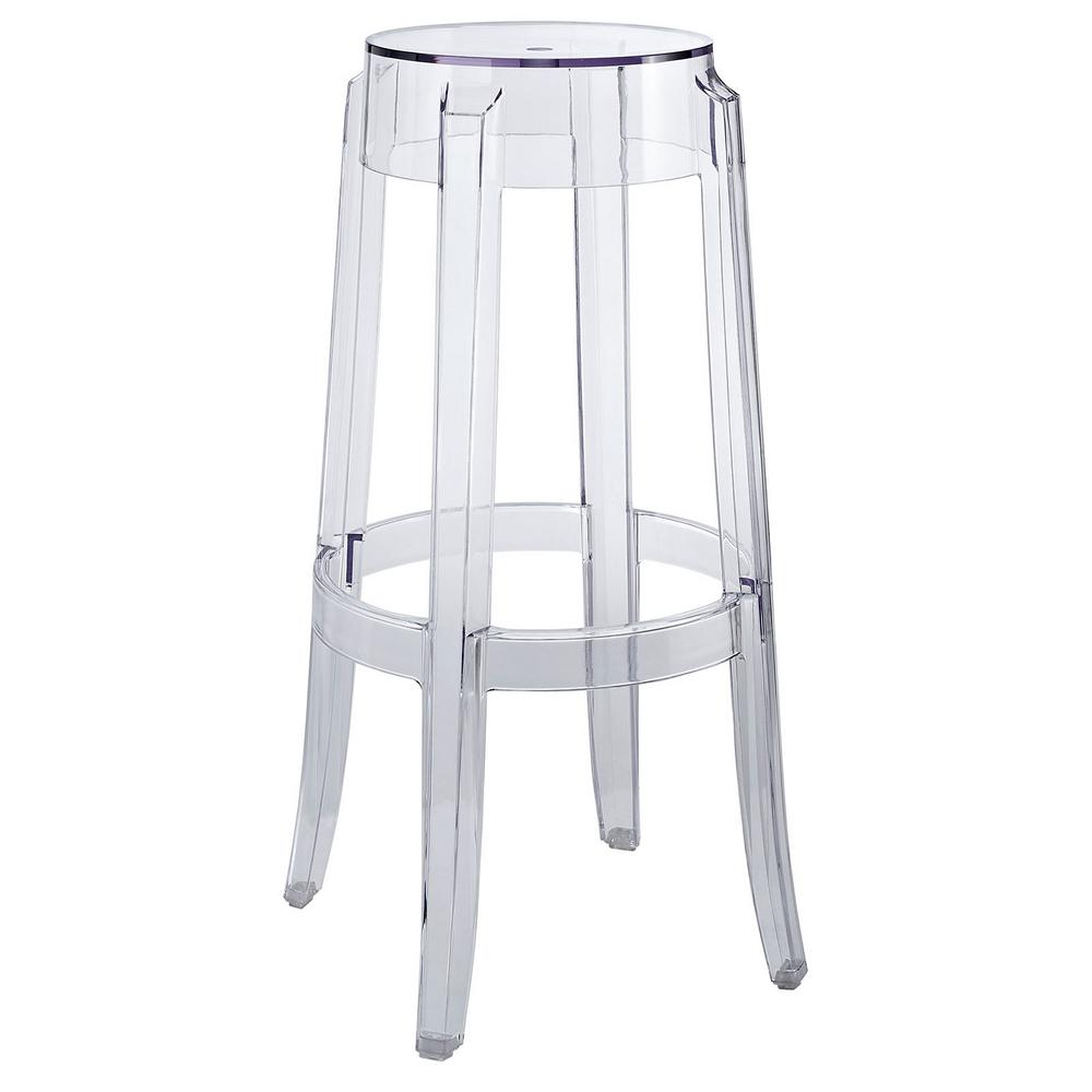 Clear bar stool