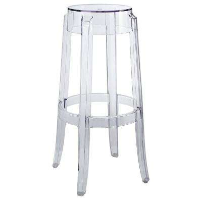 Casper 29.5 in. Clear Bar Stool