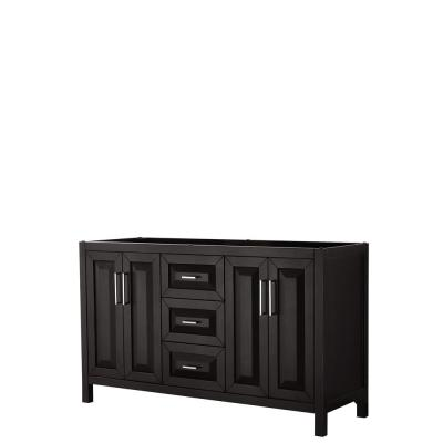 Daria 59 in. Double Bathroom Vanity Cabinet Only in Dark Espresso