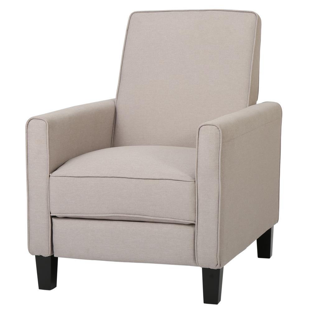 Darvis Wheat Fabric Recliner Club Chair