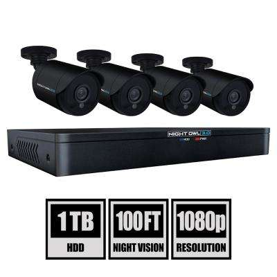 8-Channel 3MP 1TB DVR Security Camera System with 4 Wired 1080p Bullet Cameras