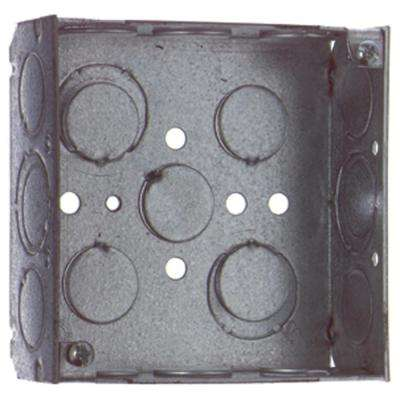 4 in. Square Metal Box - 1/2 in. and 3/4 in. Knockouts (Case of 50)