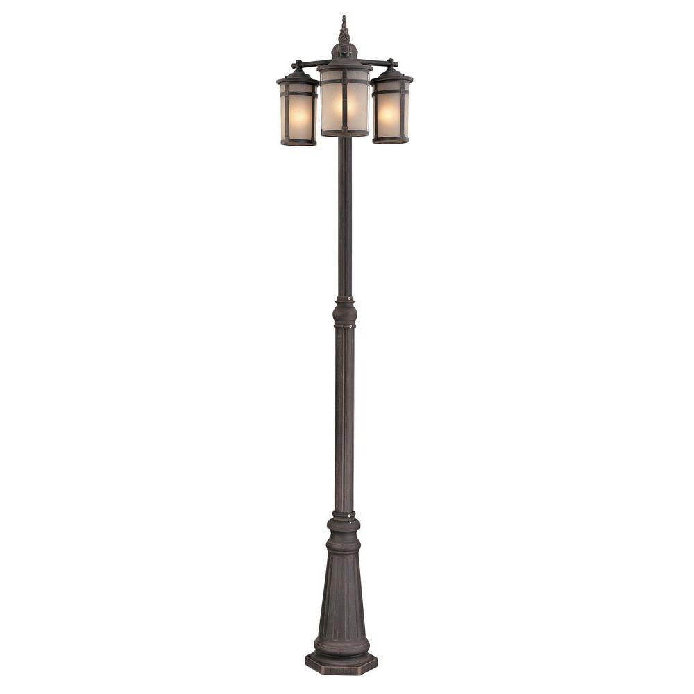 Beyer 3-Light Outdoor Dark Bronze Post Light