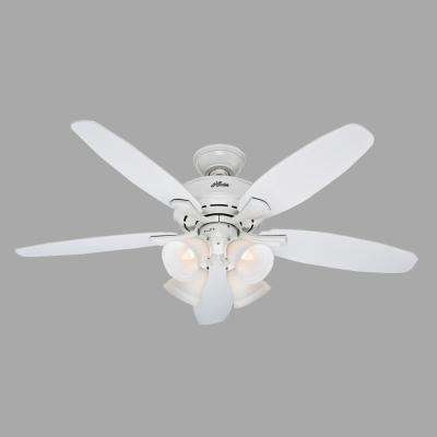 Landry 52 in. Indoor White Ceiling Fan with Light Kit